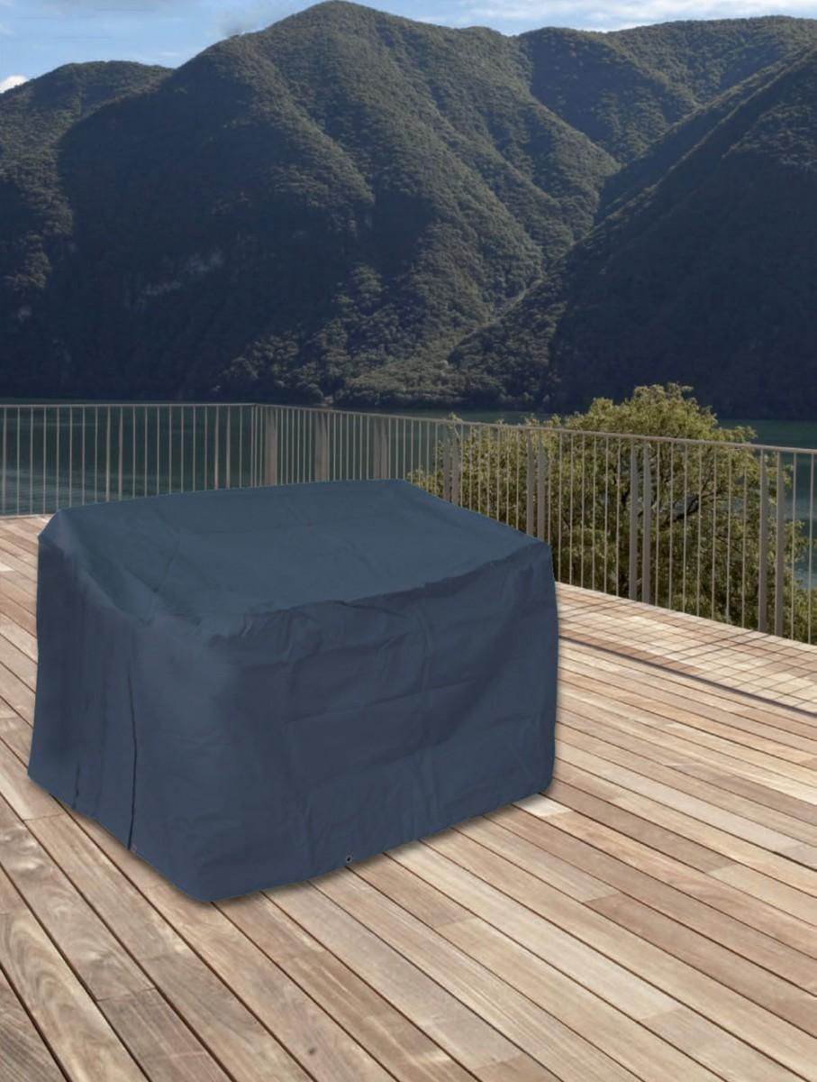 schutzh lle f r gartenbank schutzhaube abdeckung h lle anthrazit 160x80x80 cm ebay. Black Bedroom Furniture Sets. Home Design Ideas
