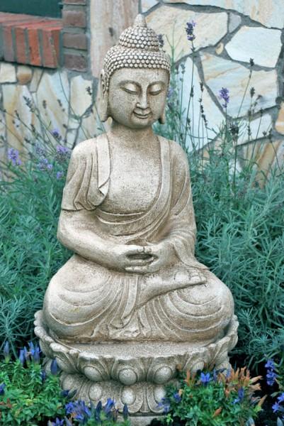 Gartenbrunnen zierbrunnen buddha skulptur wasserspiel zimmerbrunnen ebay - Gartenbrunnen buddha ...