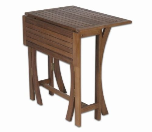 gartentisch balkontisch klapptisch holz akazie 70 x 70cm fsc zertifiziert ebay. Black Bedroom Furniture Sets. Home Design Ideas