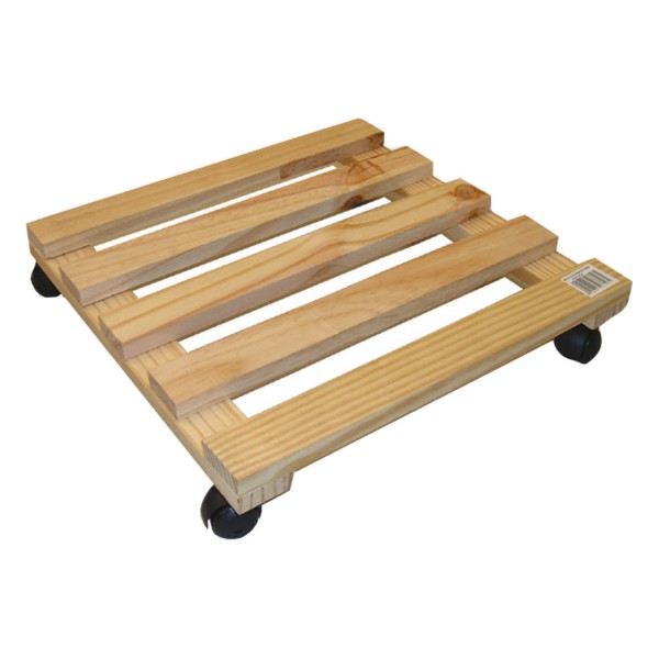 rollen untersetzer holz eckig pflanzen blumen topf roller multi roller trolley ebay. Black Bedroom Furniture Sets. Home Design Ideas