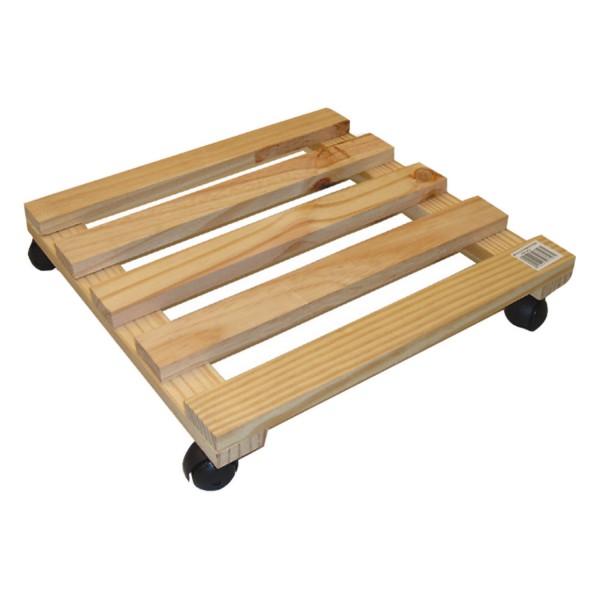 rollen untersetzer holz eckig pflanzen blumen topf roller. Black Bedroom Furniture Sets. Home Design Ideas
