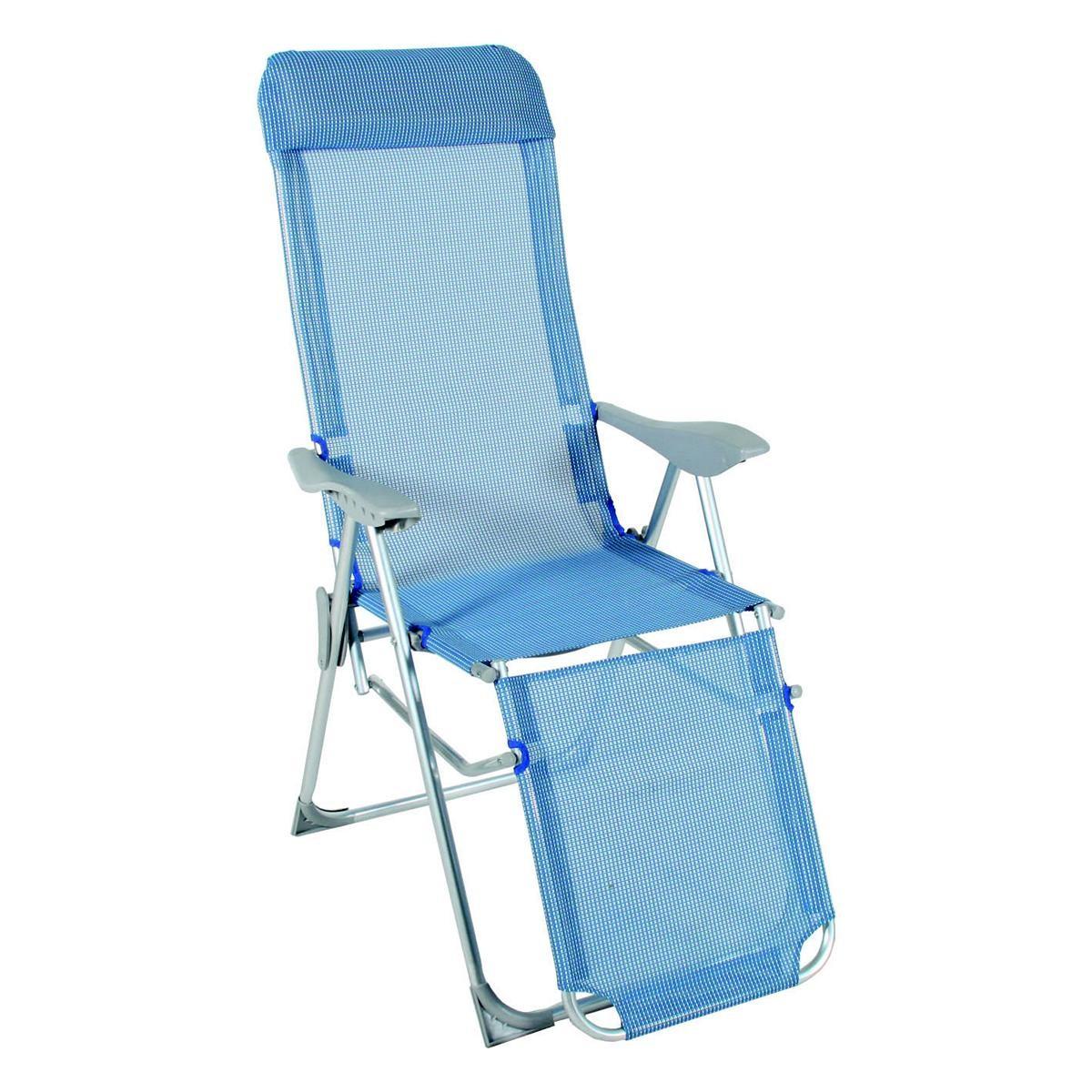 Relaxsessel blau wei relax liegestuhl klappbar klappsessel camping stuhl liege - Liegestuhl camping ...