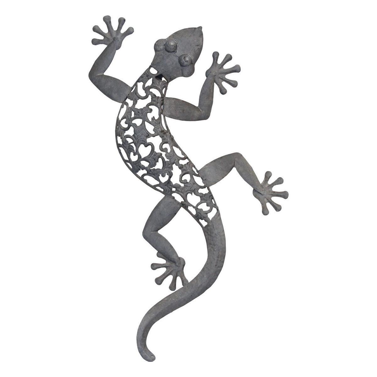 Wandbild gecko gr e l wanddeko eidechse salamander - Wanddeko eidechse ...