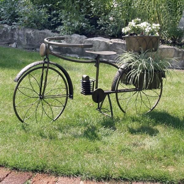 deko fahrrad blumenfahrrad metall blumentopf ebay. Black Bedroom Furniture Sets. Home Design Ideas
