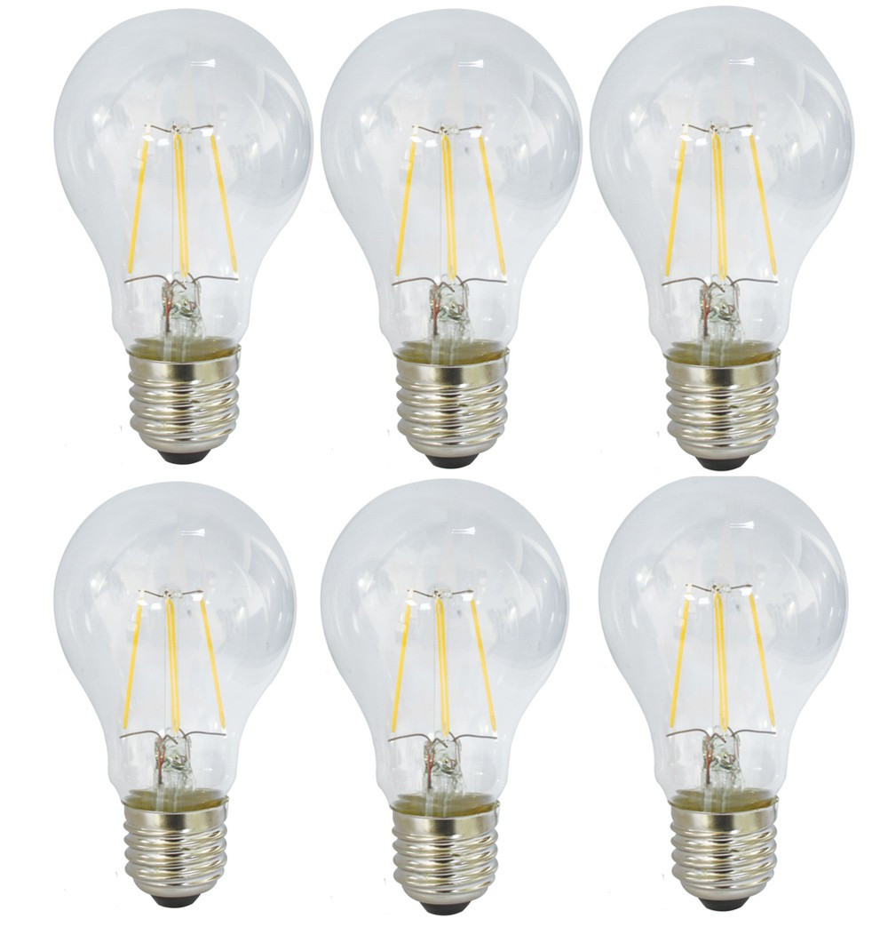 6 st ck led filament fadenlampe gl hbirne 4 watt e27 warmwei eek a 400 lm lampen licht. Black Bedroom Furniture Sets. Home Design Ideas