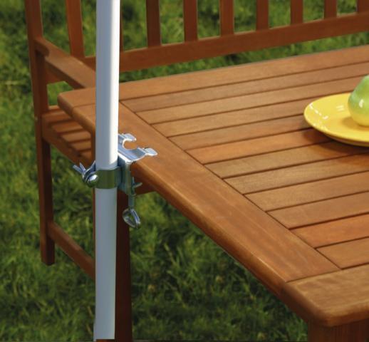 tischklammer f r sonnenschirm schirmklammer halterung halter garten terrasse sonnenschutz. Black Bedroom Furniture Sets. Home Design Ideas