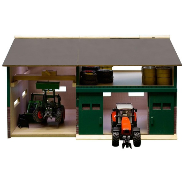 wohnzimmerlampen holz:Bauernhof Werkstatt Schuppen Holz 1:32 41 x 54 x 32 cm, passend zu