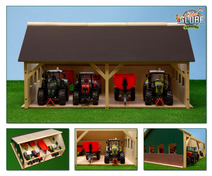 wohnzimmerlampen holz:Bauernhof Schuppen Holz 1:32 , passend zu Siku, Traktorschuppen, Kids