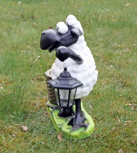 deko schaf mit led lampe und pflanztopf dekofigur tierfigur m bel wohnen figuren skulpturen. Black Bedroom Furniture Sets. Home Design Ideas