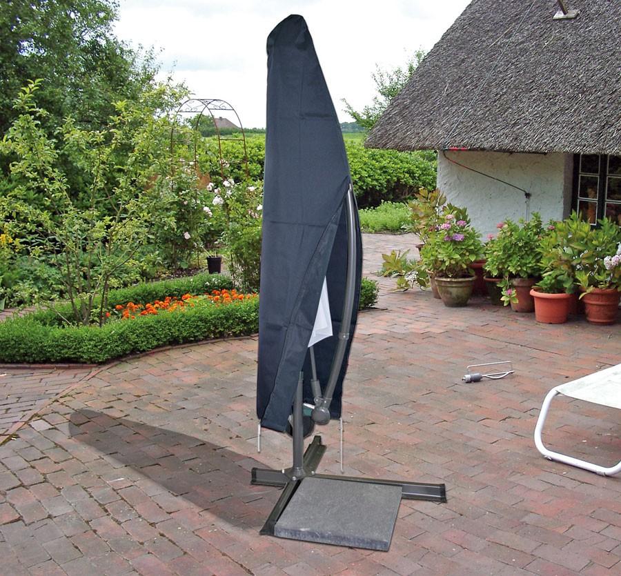schutzh lle f r ampelschirm sonnenschirm schutzhaube h lle anthrazit 3m garten terrasse. Black Bedroom Furniture Sets. Home Design Ideas