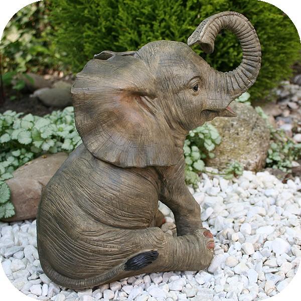 niedliche dekofigur elefant gl ckselefant afrika deko afrikanische skulptur ebay. Black Bedroom Furniture Sets. Home Design Ideas