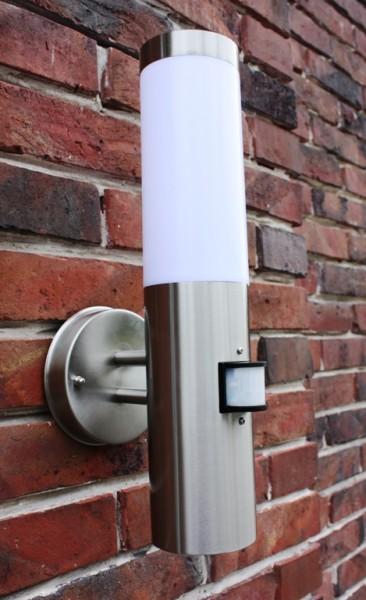 edelstahl au enlampe mit led 7 watt au enleuchte hoflampe. Black Bedroom Furniture Sets. Home Design Ideas