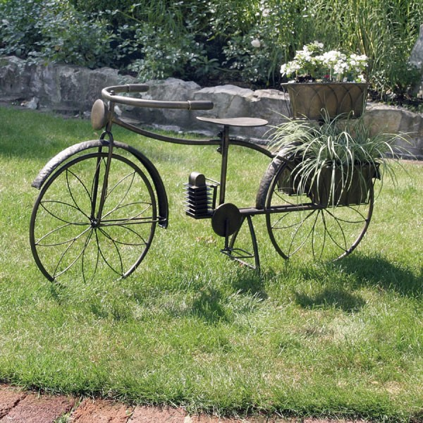 Deko fahrrad garten for Metall deko garten
